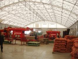 Ангары для хранения картофеля под ключ в Украине, строительство.