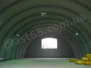 Ангары полукруглые под ключ, строительство ангаров в Украине.