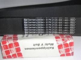 Автомобильный ремень ручейковый 9PK2125 Febi Франция