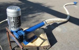 Безосевой спиральный транспортёр. Гибкий шнек (Flexible Auger)FA90. 7м