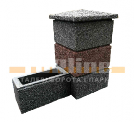 блок набірний , блок на стовп , стовпи на паркан , бетонний блок