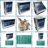 Экономная кормушка для кроликов бункерная