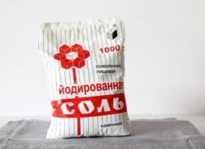 Иоди́рованная пова́ренная соль пачка 1,5 кг