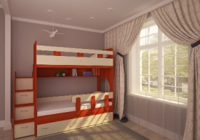 Кровать-чердак Woodmart-mebel КЧД 110.