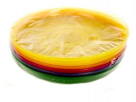 M17 - 110038, Набор пластиковых тарелок, универсальное, разноцветный