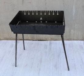 Мангал - чемодан переносной раскладной 6,8,10,12 шампуров
