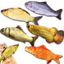 Мягкая игрушка рыба в ассортименте 20см, 40см, для кошек кота
