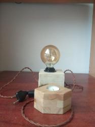 Настільний лофт світильник з гіпсу
