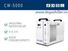 Небольшой охладитель воды CW5000 для гравировального станка с CO2 лазе