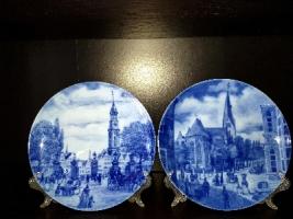 Продам кобальтовые, фарфоровые тарелки с видами немецких городов.