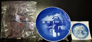 Продам Рождественскую, датскую, фарфоровую, кобальтовую тарелку.