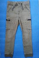 Штаны джинсы хаки H&M, р.140, мальчику 9-10 лет