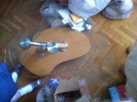 стеклянный фуршетный стол, эксклюзив!
