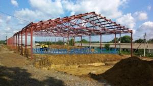 Строительство каркасных ангаров, каркасных быстровозводимых зданий.