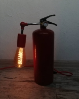 Світильник Лофт настільний з вогнегасника