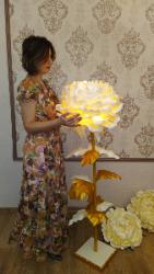 Цветок- Светильник ручной работы