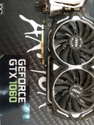 ВидеоКарту   MSI ARMOR GeForce GTX 1060 3GB GDDR5 192bit  бу.