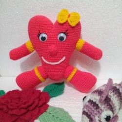Вязаные игрушки - эксклюзивная валентинка