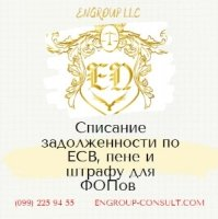Бухгалтерские услуги для ФОП, списание ЕСВ, пени и штрафов