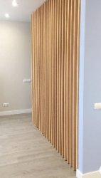 Дизайн стен в интерьере. Деревянные рейки и брус