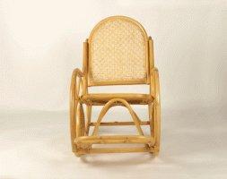 Крісло качалка CRUZO Світ Рокінг натуральний ротанг медовий