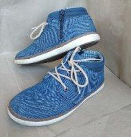 Легкие джинсовые мокасины ботинки туфли мальчику 35р, C&A, Германия