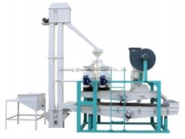 Линия для очистки, калибрования,шелушения и сепарации гречихи TFQM-300