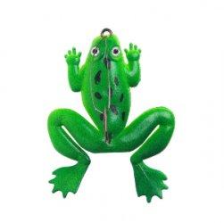 Лягушка приманка для рыбалки, искусственная зеленая имитация рыбалка