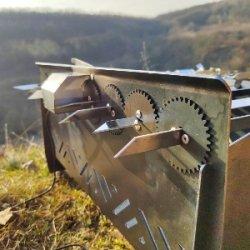 мангал автоматичний, лінивий шашличник, з мотором