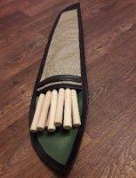 Набор шампуров с 10 шт в брезентовом чехле