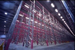 Паллетный стеллаж для склада.
