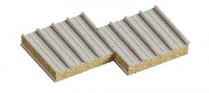 Сендвіч панелі дахові з наповнювачем базальтова мінвата