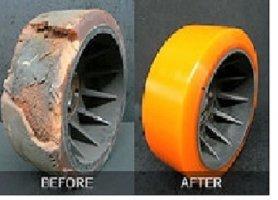Восстановление полиуретанового покрытия колес, роликов сушилок